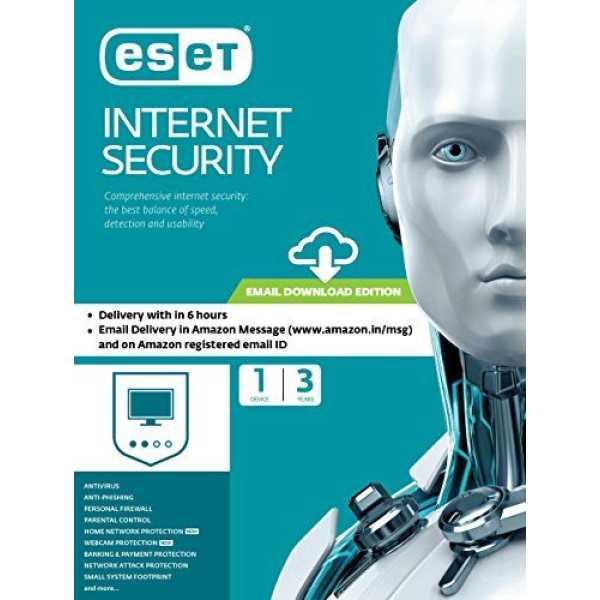 Eset Internet Security 1 PC 3 Year Antivirus (Key Only)