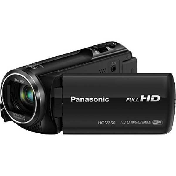 Panasonic HC-V250K MOS Camcorder - Black