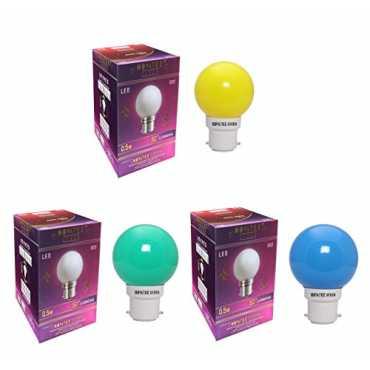 NOVATEK GREEN 0 5W Led Bulbs Pack Of 3 Multicolor Green Yellow Blue
