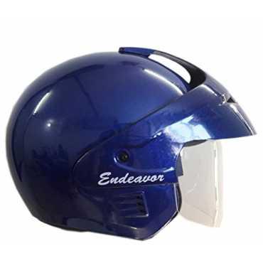 Wrangler WRR 016 Open Face Helmet with Visor (Medium) - Blue