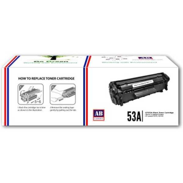 AB Cartridge 53A / Q7553A Black Toner Cartridge - Black