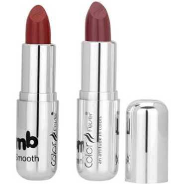Color Fever Silver Lable Lipstick 35 16 (Walnut, Dark Crimson) (Set of 2) - Silver