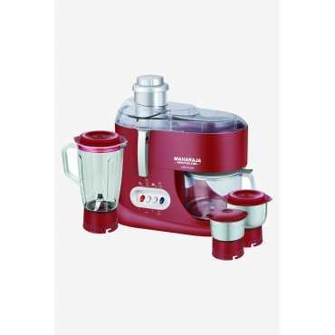 Maharaja Whiteline Ultimate 550W Juicer Mixer Grinder (3 Jars) - Red