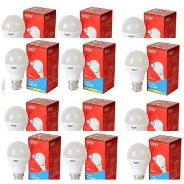 Ajanta 5W B22 630L LED Bulb  (White, Pack of 12) - White