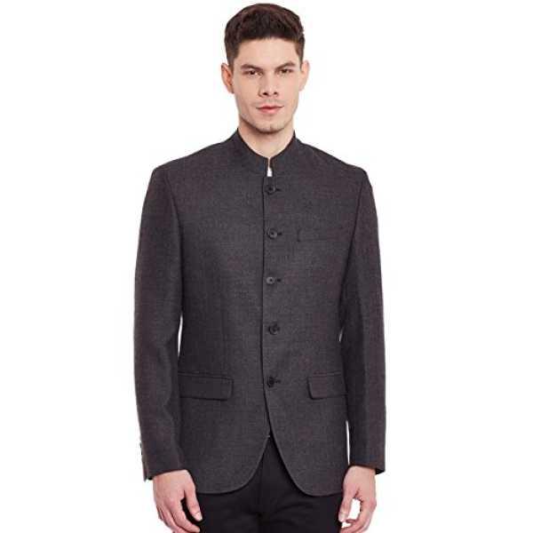 Envoy Men's Slim Fit Blazer EN000101-B_Charcoal_40