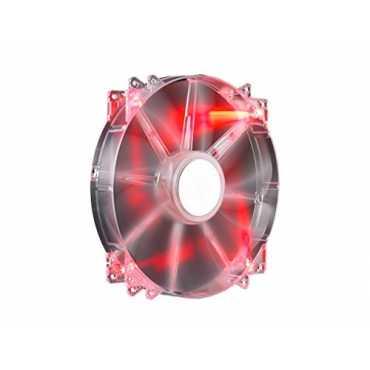 Cooler Master Megaflow 200 LED Silent Fan Cooler - Black   Red   Blue