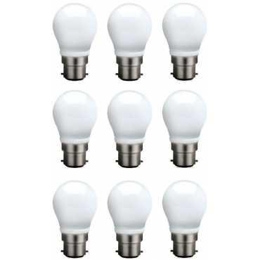 Syska 3 W B22 QA0301 LED Bulb (White, Pack of 9) - White
