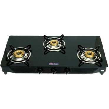 Surya Sidhi Glass Manual Gas Cooktop (3 Burners)