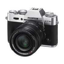 Fujifilm X-T10 Silver Mirrorless Digital Camera with XF18-55mm F2 8-4 0 R LM OIS Lens