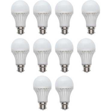 X-Cross 12W B22 LED Bulb (White, Set of 10) - White