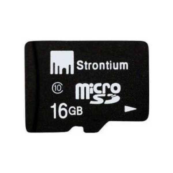 Strontium SR16GTFC10A 16GB Class 10 MicroSDHC Memory Card