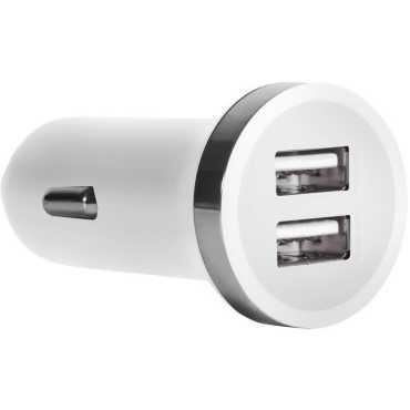 STK 2.4A Dual USB Port Car Charger - White