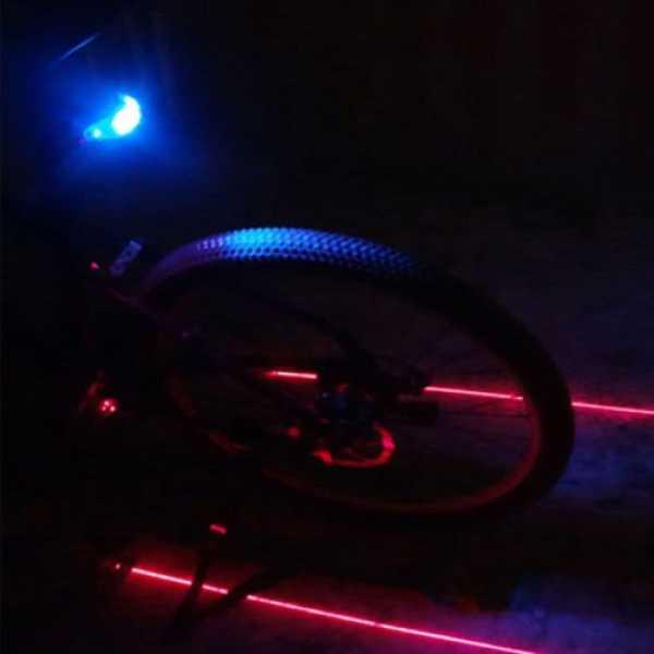 Alria Rear Tail Safety Laser Flashing Light - Blue