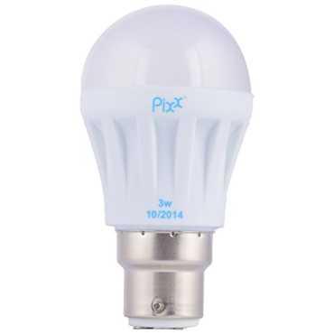 Pixx 3W Aluminum B22 LED Bulb White