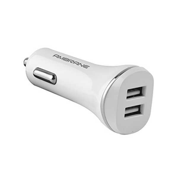 Ambrane ACC-66 2.1A USB Car Charger - White