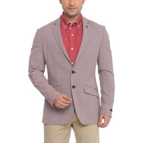 Printed Single Breasted Formal Men's Blazer