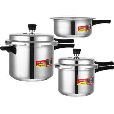 Prestige Popular Plus 2 L, 3 L, 5 L Aluminium Pressure Cooker (Induction Bottom,Outer Lid)