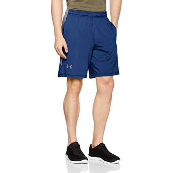 Under Armour Raid 8 Men's Synthetic Shorts (190086959658_1257825-997_Medium_Blackout Navy/Steel)
