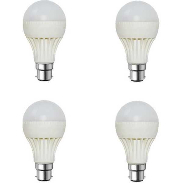 Digilight 6W Plastic Body White LED Bulb (Pack Of 4) - White