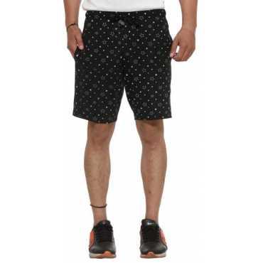 Vimal Printed Men's Black Basic Shorts