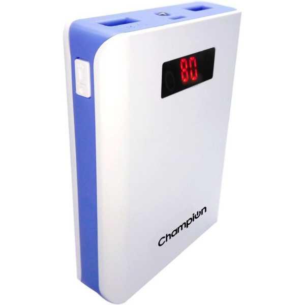 Champion Z-10 10400mAh Power Bank - White | Blue | Grey | Black | Pink