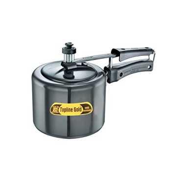 Topline  Gold Anodized Aluminium 5 L Pressure Cooker (Inner Lid) - Black