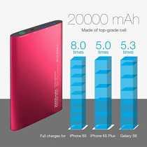 Vinsic 20000mAh Ultra-Slim Dual USB Power Bank