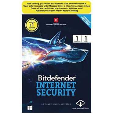 Bitdefender Internet Security 2015 1 PC 1 Year Antivirus (Key)