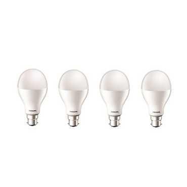 Philips 20W Standard B22 LED Bulb (White, Pack Of 4) - White