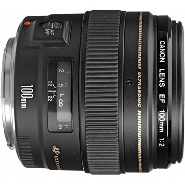 Canon EF 100mm f/2 USM Lens - Black