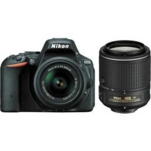 Nikon D5500 DSLR Camera (AF-S 18 - 55mm VR II and AF-S 55 - 200mm VR Kit)