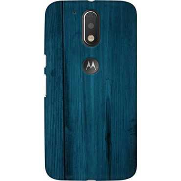 designer printed 3d premium high quality back case cover for Moto G4 Plus wooden blue texture