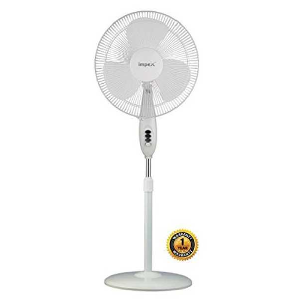Impex Breeze O3 3 Blade Pedestal Fan - White