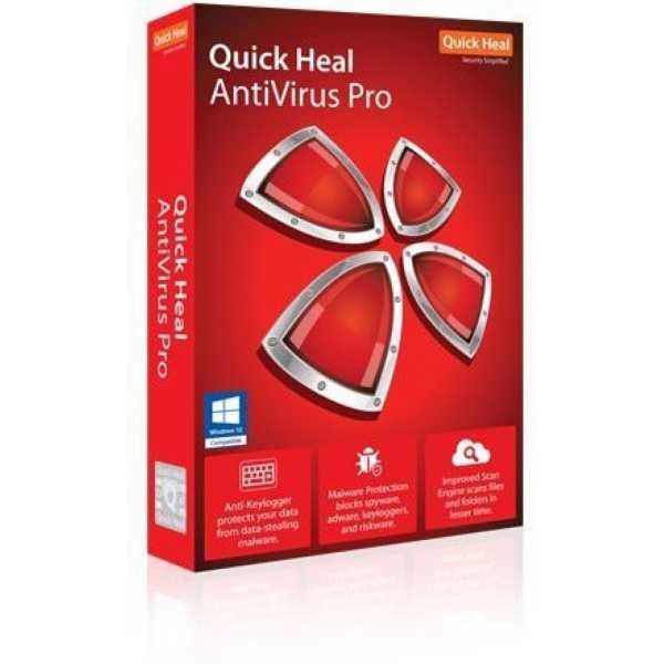 Quick Heal Antivirus Pro 2016 10PC 1 Year Antivirus