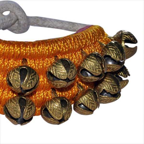 AsiaCraft 2 Line Cloth Pad Kathak Ghungroo (40 Bells)