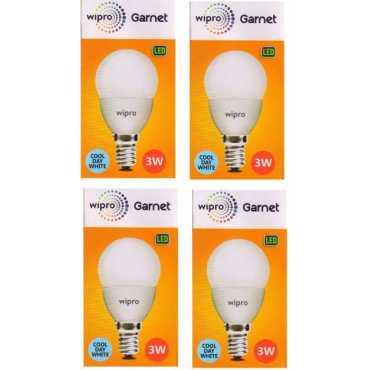 Wipro Garnet 3W Standard E14 270L LED Bulb White Pack of 4