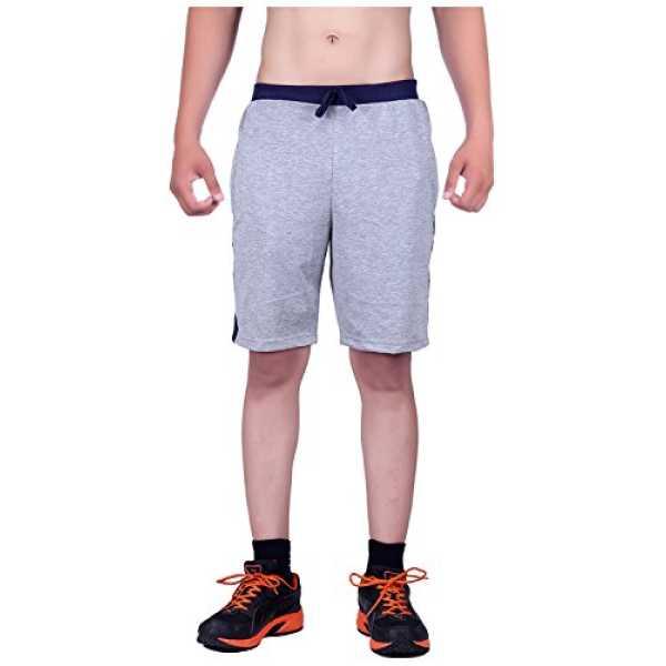 Men's Cotton Shorts (MNG2, Grey, 36)
