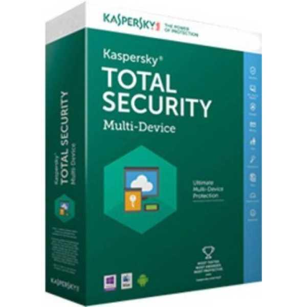 Kaspersky Total Security 2017 3 PC 1 Year Antivirus
