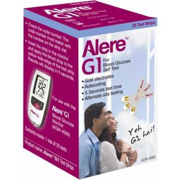 Alere G1 AGM-4000 Glucometer (25 Strips) - Grey | Silver