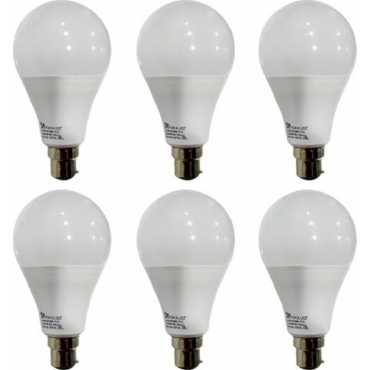 Syska 12 W B22 PAG LED Bulb (White, Pack of 6) - White