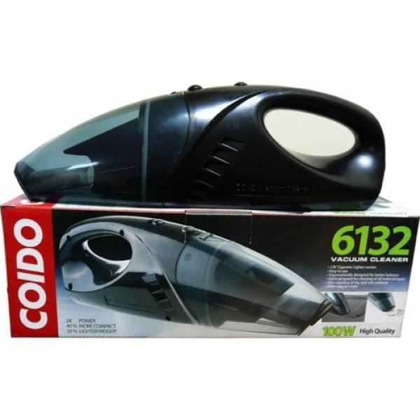 Coido 6132 DC12V WET & DRY Vacuum Cleaner - Black