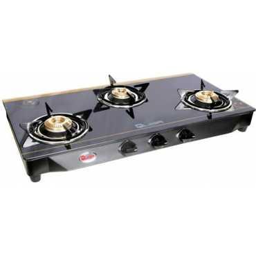 Quba B3 Tulip Glass Cast Iron Manual Gas Cooktop (3 Burners)