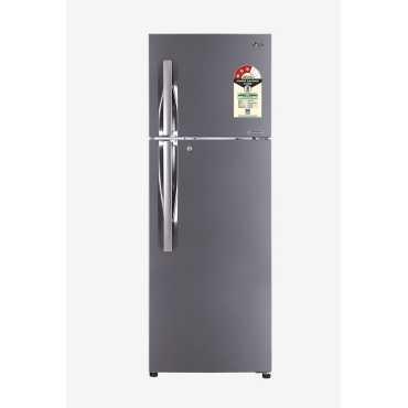 LG GL-T372JPZU 335 L 3 Star Inverter Frost Free Double Door Refrigerator - Steel