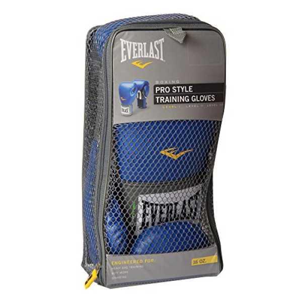 Everlast 1200012 Pro Style Training Gloves 16 Oz - Blue
