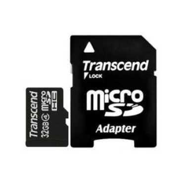 Transcend TS32GUSDHC4 32GB Class 4 MicroSDHC Memory Card