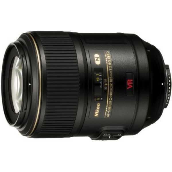Nikon AF-S VR Micro-Nikkor 105mm f/2.8G IF-ED Lens - Black
