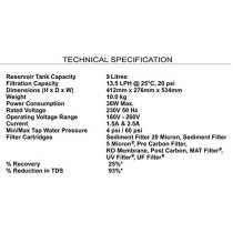Faber Q-WA RO MAT 9L Water Purifier