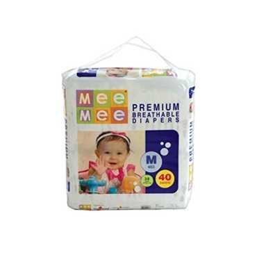 Mee Mee Premium Breathable Diapers Medium 40 Pieces