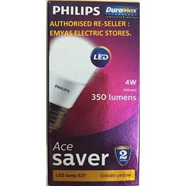 Philips Ace Saver 4W E27 350L LED Bulb (Warm White, Pack of 6) - White