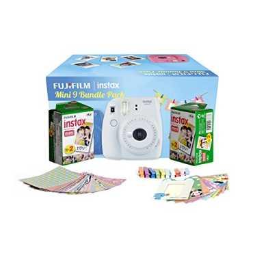 Fujifilm Instax Mini 9 Film Camera (With 20 Shot Films) - Cobalt | Yellow | White | Pink | Blue | Green